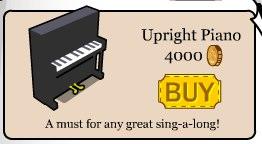 Club Penguin UprightPiano