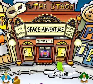 Club Penguin Stage Grand Opening