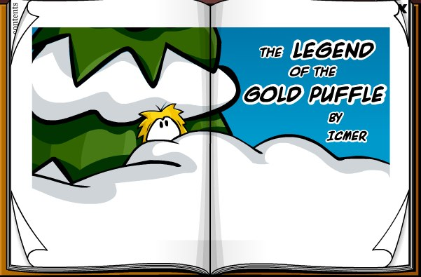 CLub Penguin Legend of the Gold Puffle