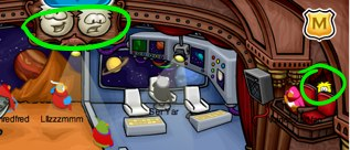 Club Penguin Yellow Puffle on Stage