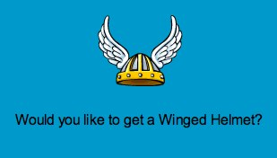 Free Winged Helmet