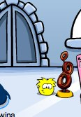 Yellow Puffle Eat