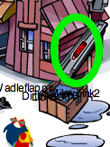 Club Penguin Red Crayon Pin