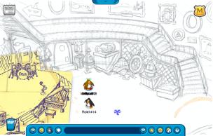 Club Penguin Lighthouse interior sketch