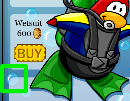 Club Penguin Green Snorkel Secret