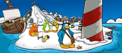 Club Penguin Home Page with Migrator