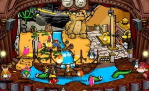 Scene from Quest for the Golden Puffle