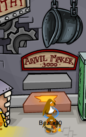 Club Penguin Anvil Pin - 1