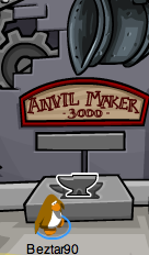 Club Penguin Anvil Pin - 2