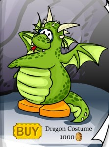 Club Penguin May Catalog Dragon Costume