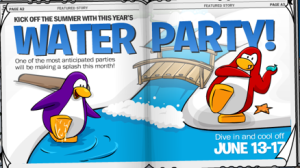 Club Penguin Water Party Announcement