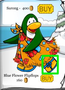 Club Penguin Flip Flops June Clothing Catalog