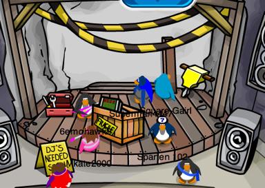 Club Penguin Dance Club Construction