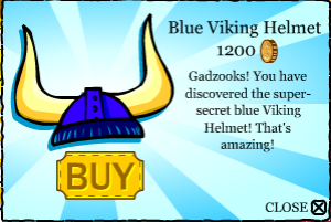 The blue viking helmet