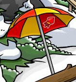 Club Penguin Firework Pin - Inside the Umbrella at the Cove