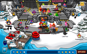 Club Penguin Stage at the Dock