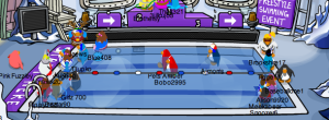 The Club Penguin Freestyle Swim Race