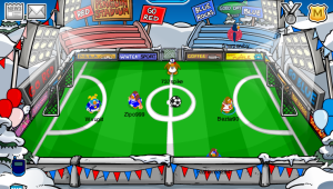 The Club Penguin Soccer Pitch