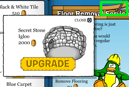 Click on the crowbar to get the secret stone igloo