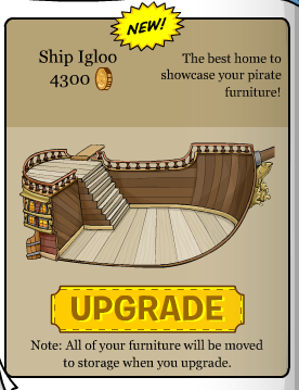 The new Club Penguin Ship Igloo