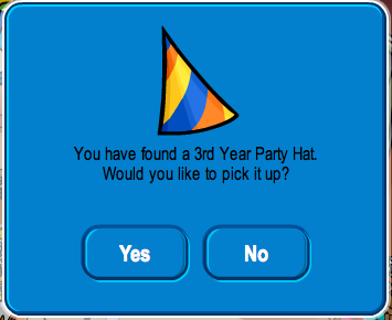 Club Penguin 3rd Year Party Hat