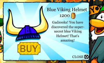 Club Penguin Secrets - Blue Viking Helmet