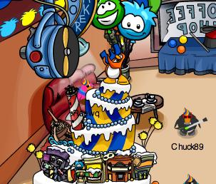 Club Penguin Party Cake