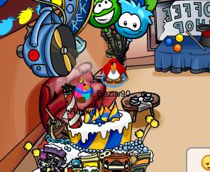 Club Penguin Secret Party Hats Cake