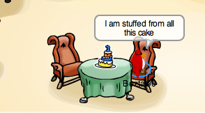 Club Penguin Cake Pin