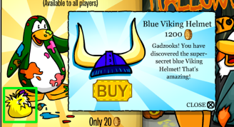 Club Penguin Secrets - Gold Viking Helmet