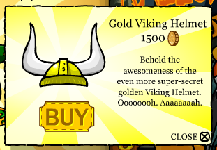 The Awesome Gold Viking Helmet