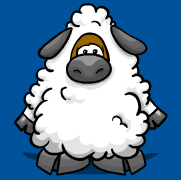 Sheep Costume in Club Penguin