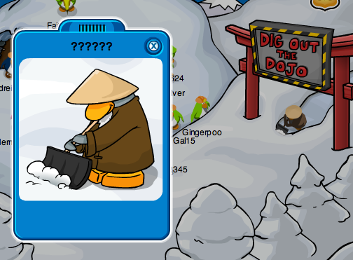 A mysterious penguin at the Dojo Construction Site