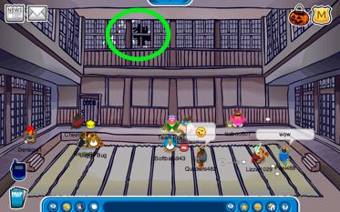 Ninja in the Dojo on Club Penguin