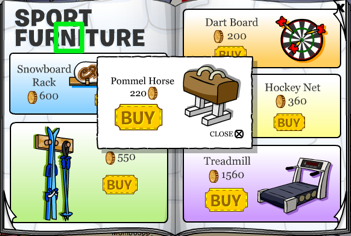 Pommel Horse in Club Penguin