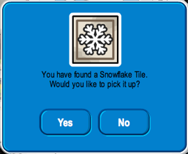 Club Penguin Snowflake Tile Pin