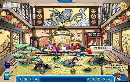 Club Penguin Dojo Inside