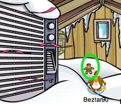 Club Penguin Gingerbread Man pin