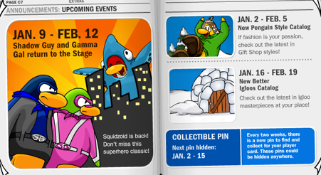 Club Penguin Newspaper for 2009