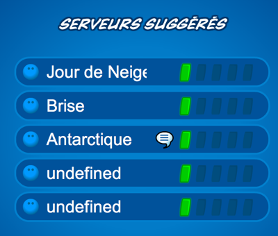 French Server Names