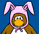 Pink Bunny Ears in Club Penguin