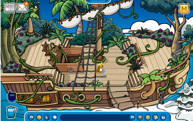 On board the Migrator with plants
