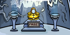 Golden Knight's Armor in Club Penguin