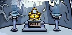 Golden Knight's Armor in Club Penguin