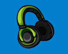 Club Penguin Green Headphones