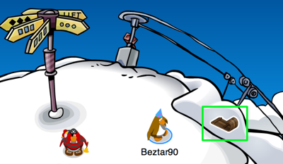 Sled Pin in Club Penguin