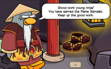 Club Penguin Flame Sandals