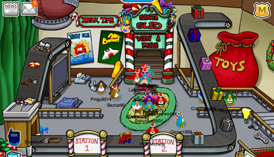 Santa's Workshop in Club Penguin