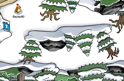 Club Penguin Forest Upside Down