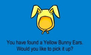 Club Penguin Yellow Bunny Ears